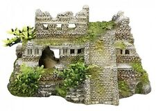Aquariendekoration Maya Ruine mit Pflanzen, ca. 21,7 x 14,7 x 11,7 cm