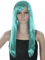 Fashion Long Shiny Straight Full Wig Party Cosplay Costume for Women Halloween