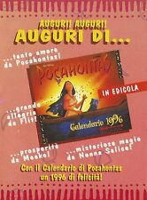 X2966 Pocahontas - Calendario 1996 - Pubblicità 1995 - Advertising