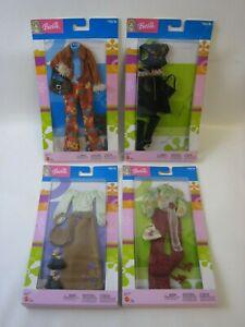 2003 Mattel Barbie 4x Trend Outfits B8251 B8245 B8253 B8248 MOC #PC321