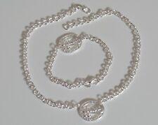 bracciale guess e collana set parure donna catena con borchia pendente argento