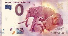 BILLET 0 ZERO EURO SCHEIN SOUVENIR ALLWETTERZOO MUNSTER  2017-1