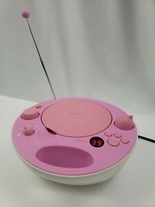 Sony ZS-E5 Pink Portable CD Player AM/FM Radio MP3 AUX Stereo Boombox