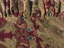 RARE JARDINIERE RALPH LAUREN RED PAISLEY ~VELVET~ EURO SHAM,26X26 PILLOW COVER!
