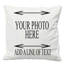 PERSONALIZED PHOTO CUSHION COVER WITH/WITHOUT TEXT PERSONAL TOUCH YOUR WORDS