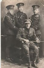 WWI Soldiers in Uniform Portrait Postcard; AZO Real Photo 1904/1918;   003