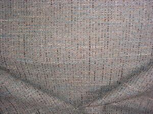 1-3/8Y PINDLER 5321 BELFORD TURQUOISE BARK SOUTHWEST TWEED UPHOLSTERY FABRIC