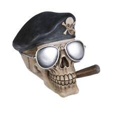 Deko Totenschädel Schädel mit Zigarre Sonnenbrille Gothic Skull Halloween DOD039