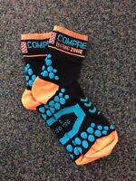 Compressport Socks, Run Hi, Black/Orange.