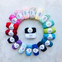 100% Mercerised Egyptian cotton dk yarn gift set Oeko-Tex® 50g x20 pcs amigurumi