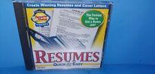 Resumes Quick & Easy Version 4 CD ROM B436