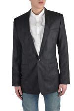"""Dolce & Gabbana """"Gold"""" Men's Gray Wool Silk One Button Blazer US 38 IT 48"""