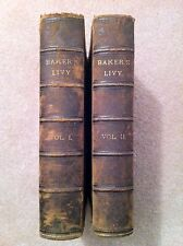 History of Rome, Titus Livius, Complete Set Vol I & II, London 1830 Baker's Livy