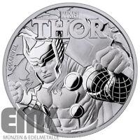 Tuvalu - 1 Dollar 2018 - Thor - Marvel Serie (2.) - 1 Unze Silber ST