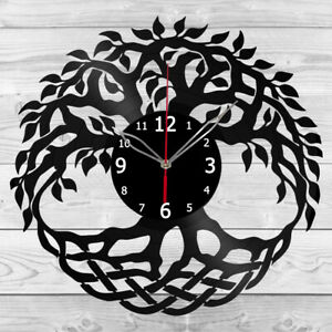 Vinyl Clock Tree Vinyl Record Wall Clock Home Art Decor Handmade 5946