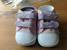 DISNEY POOH TODDLER BABY 9 TO 12 MONTHS PINK CANVAS SNEAKER SHOE BRAND NEW