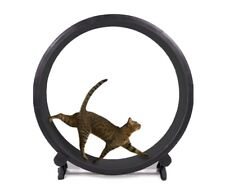 Slightly used cat wheel exercise for cats, black used, great condition