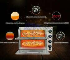 """16"""" 110V 2Kw Double Electric Pizza Oven Cooking Machine Warming Equipment"""