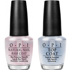 OPI Natural Nail Base and Top Coat 2 x 15ml, UNBOXED