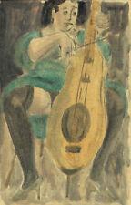 FRANCIS BEN - La Violoncellista - Acquerello Originale - SEXY ART mail