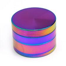 broyeur moulin herbes tabac grinder metal rainbow multicolore 50 mm 4 parties