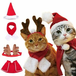 Pet Scarf Scrunchie Hat Cloak Christmas Cosplay Costume for Dog Puppy Cat Kitten
