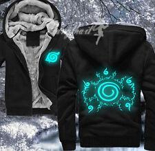 Luminous Anime Naruto Uzumaki Winter Hoodie Sweatshirt Jacket Unisex Coat 115