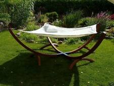 CLEARANCE SALE Deluxe Outdoor Timber Hammock 200cm x 200cm - Double Size