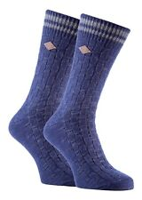 Farah - 2 Pairs Mens Thick Cotton Rich Chunky Knitted Formal Boot Dress Socks