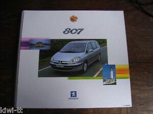 Peugeot 807 Presseprospekt / Pressemappe, D, 2002