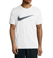 NIKE Sportswear Men's Dri-Fit Swoosh Tee Top T-Shirt, White Athletic Cut XLL XXL
