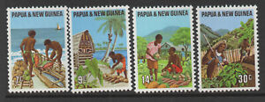 Papua New Guinea Sc#332-35 Primary Industries, MNH VF