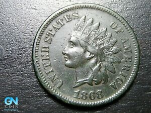1868 Indian Head Cent Penny  --  MAKE US AN OFFER!  #B9402