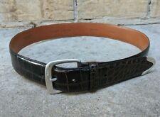 "Polo Ralph Lauren RL '85 Italy American Alligator Belt Sterling Silver 32"" MINT"