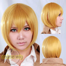 Cosplay Attack on Titan Arumin Arureruto / Armin Arlert Blonde Short Anime Wig