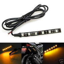 6 LED Universal Motorcycle Bike Amber Turn Signal Indicator Blinker Light Strip