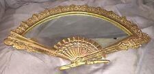 Vintage Gold Brass Fan Mirror