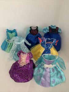 Disney Toddler Princesses Dolls Dress Gown Tangle Arial SnowWhite Frozen Lot