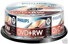 Philips DVD+RW 4.7, 4x Speed, Spindel 25 Stück