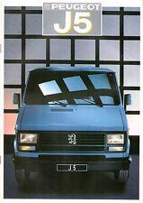 Prospekt / Brochure Peugeot J5 1987