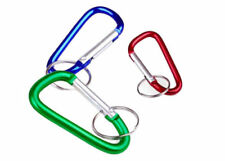 Lot of 2 3 pc Aluminum D-ring Locking Carabiner Keychain
