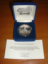DISNEY  COIN 25th ANNIV 1971-1996 MEDALLION ONE TROY OUNCE OF .999 FINE SILVER