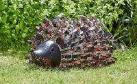 Smart Solar Metal Silhouette Hedgehog Garden Patio Path Solar LED Light Ornament