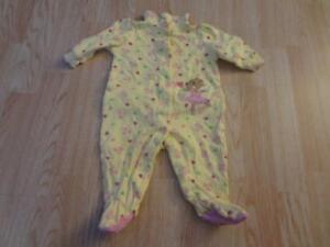 Infant/Baby Girls Carter's 3/6 Mo Footies Pajamas Outfit PJs Ballerina Hearts Be