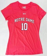 Under Armour Notre Dame Block Party Short Sleeve Jersey Women's Medium Pink