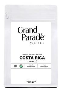 Organic Costa Rican Medium Roast Ground Coffee, Fresh Roasted Daily, 1 LB Bag