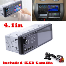 1 Din 4.1 inch Car Stereo Audio In-Dash FM AUX Receiver SD USB MP5 Radio Player