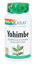 Solaray - Yohimbe 320 mg. - 100 Veg Caps FAST SHIPPING 20% OFF