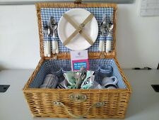More details for wicker picnic hamper. 4 settings. great condition #6105