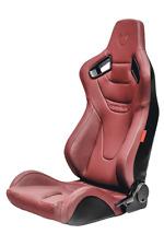 Cipher Auto AR-9 Revo Maroon Leatherette w/Carbon Fiber Racing Seats PAIR NEW